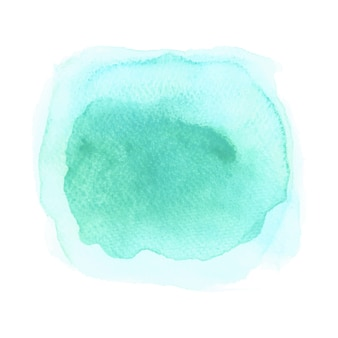 Blue and green watercolor on white background