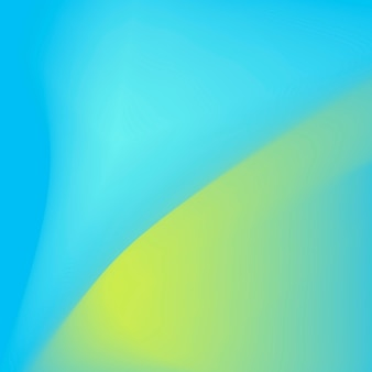 Blue and green wave gradient background vector