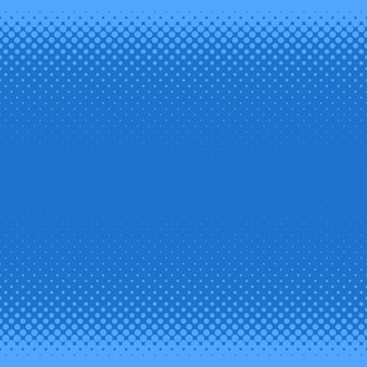 ブルーハーフトーンドットパターンの背景 - さまざまなサイズの円からのベクトルグラフィック