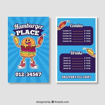 Blue hamburger menu