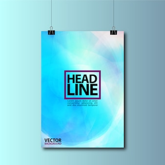 Blue hanging poster background design