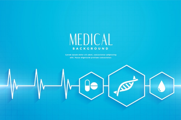 Синий фон здравоохранения и медицинской концепции