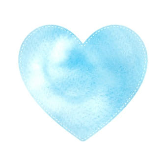 Blue heart pattern shapes on white background