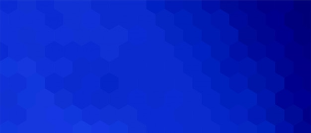 Blue hexagonal background