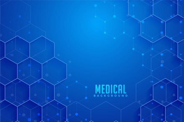 Blue hexagonal medical and healthcare background design