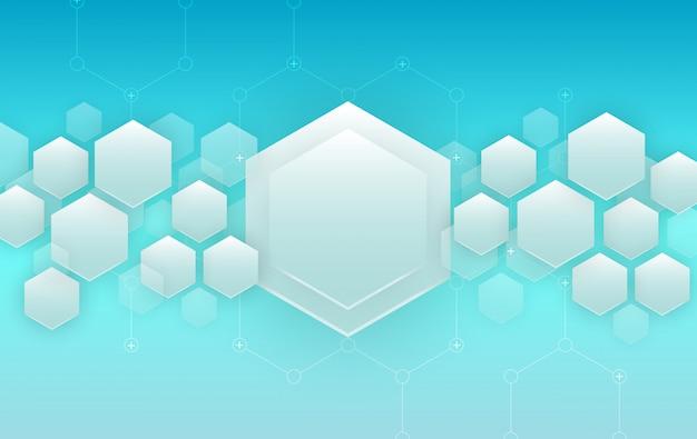 Blue hexagons background. futuristic background