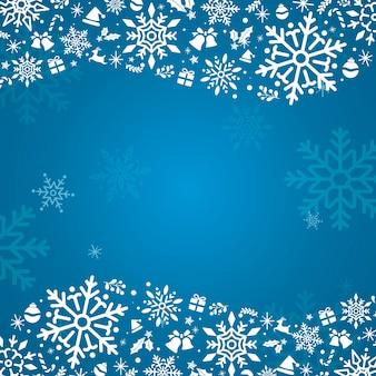 Blue holiday design background vector