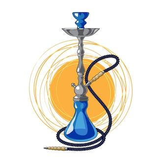 Blue hookah in cartoon style