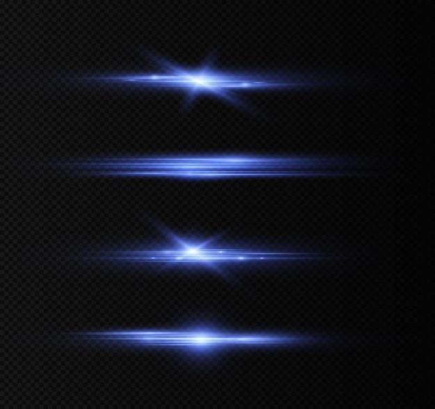 Пакет с синими горизонтальными линзами бликов