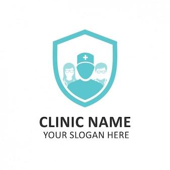Blue hospital logo template