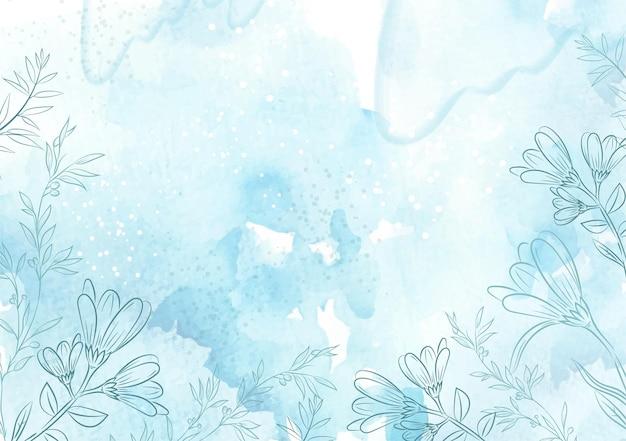 꽃 벡터 템플릿 블루 아이스 스플래시 수채화 배경