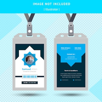 Blue id card design