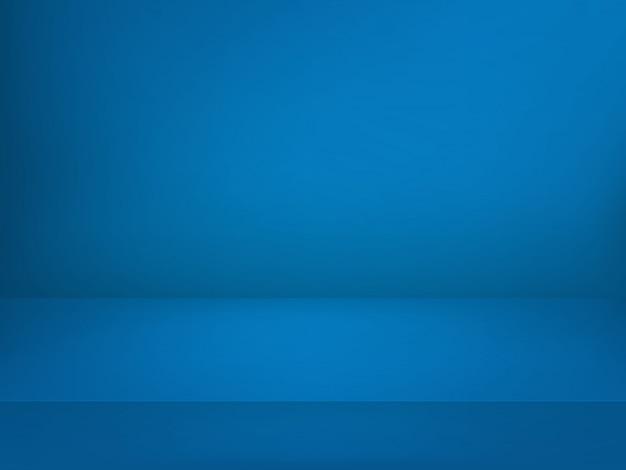 Blue illuminated stage.