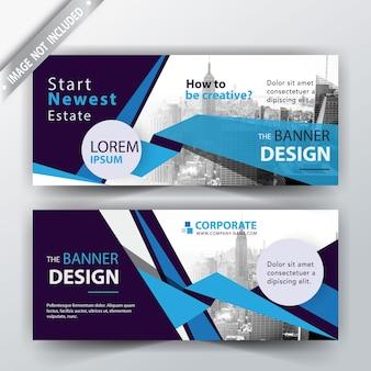 Blue illustration banner