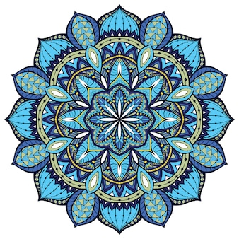 Blue indian mandala.