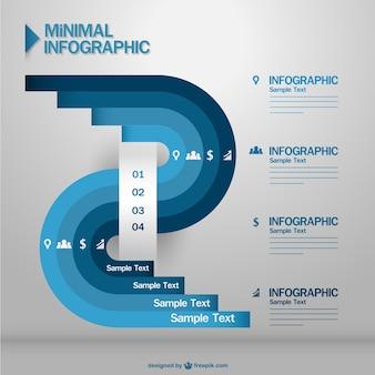青インフォグラフィック最小限の情報提示