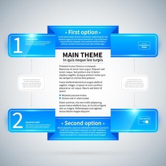 Blu infografica opzioni template