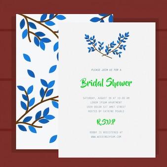 Blue invitation bridal shower