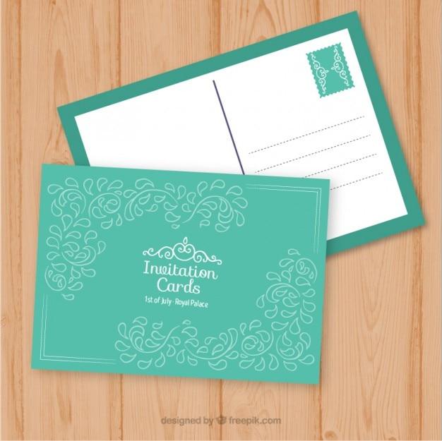 Blue invitation to send
