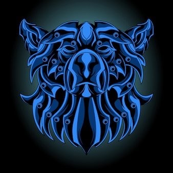 Blue iron bear
