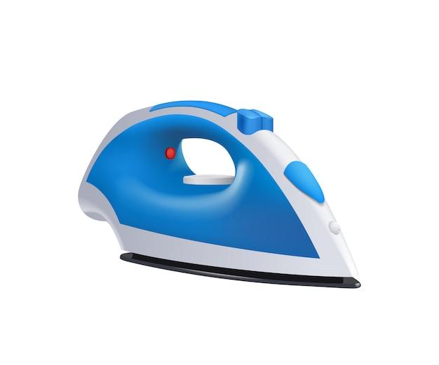 Blue iron on white