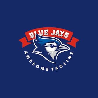 Blue jay illustration vector template