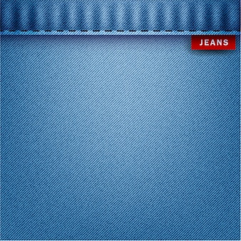 Blue jeans pattern background, vector illustration.