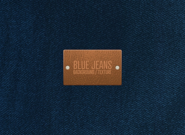 Blue jeans texture background. vector illustration.