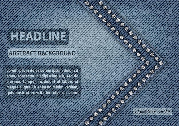 Blue jeans texture cover