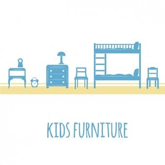 Blue kids furniture