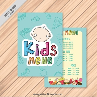 Blue kids menu