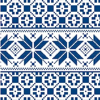 ブルーニットテクスチャシームレスパターン