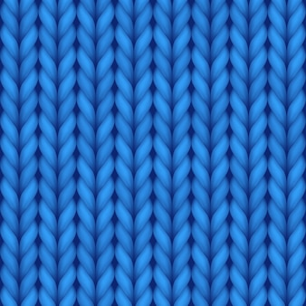 Blue knitting seamless background for wallpaper design