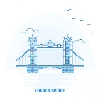 Лондонский мост blue landmark