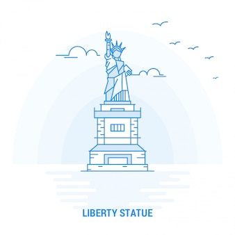 Статуя свободы blue landmark