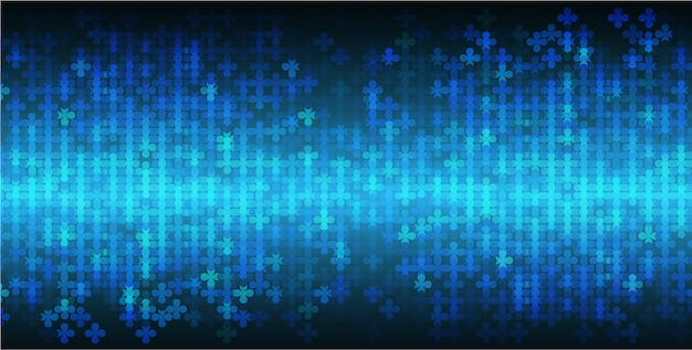 Blue led cinema screen for movie presentation. light abstract technology background