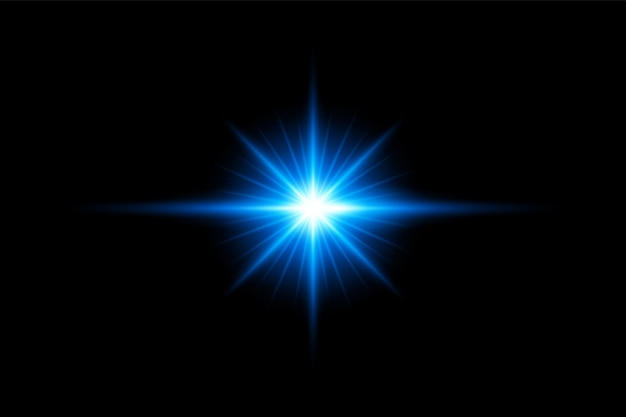 青いレンズフレアセットeps