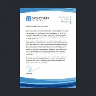 Blue letterhead template