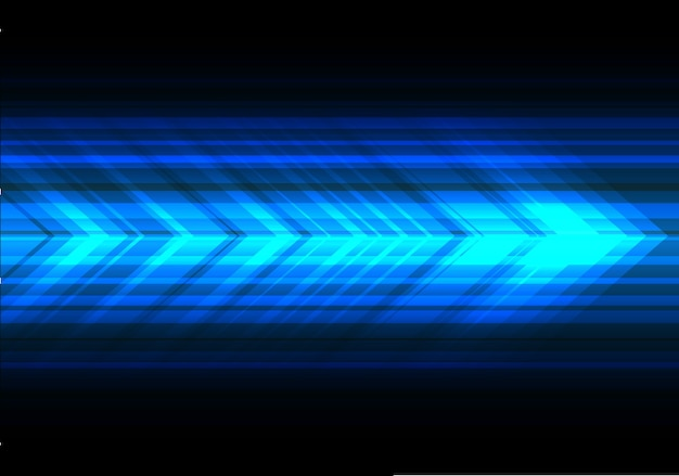 Blue light arrow speed technology black background.