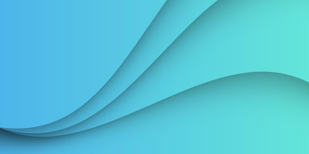 Blue light background with abstract wave shapes.