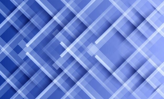抽象的な白い線と青い光の背景