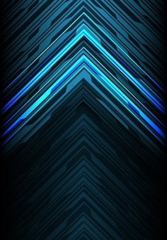 Blue light black line arrow direction futuristic background.