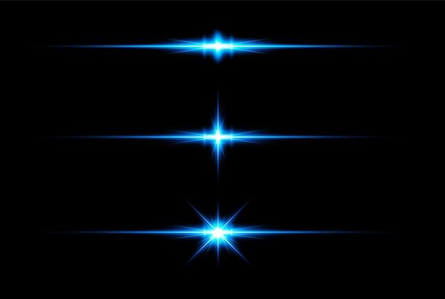 Синий световой эффект прозрачный вектор пользовательские блики объектива