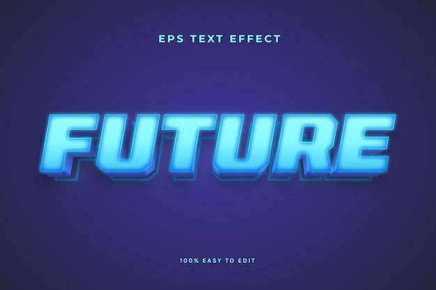 Blue light future text effect