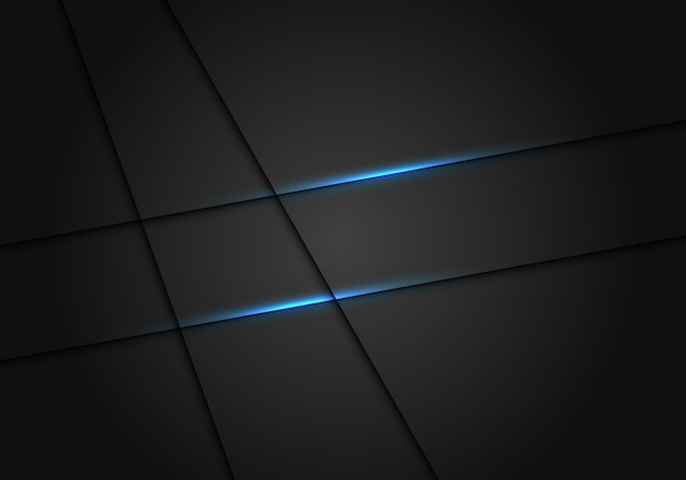 Blue light line shadow dark grey luxury background.