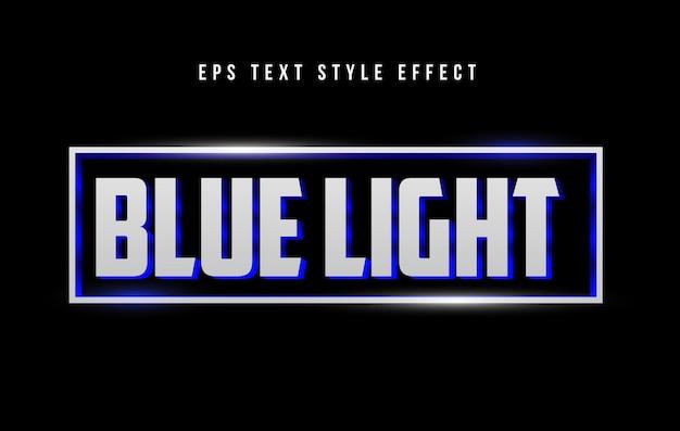 Редактируемый эффект стиля текста синий свет неоновый