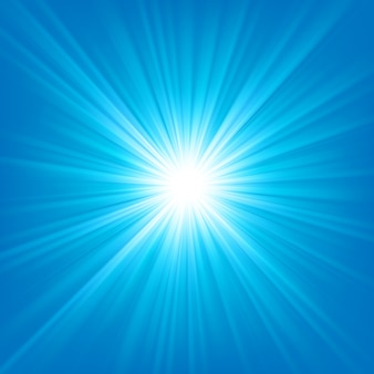 Blue light shining on bright background vector illustration