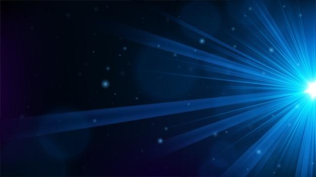 エッジから青い光が輝いています。