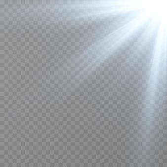 青色光。太陽の光。