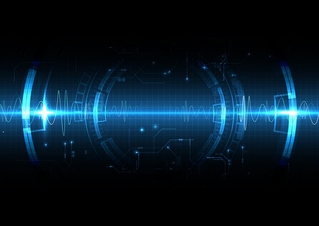 Технология синего света в стиле shockwave